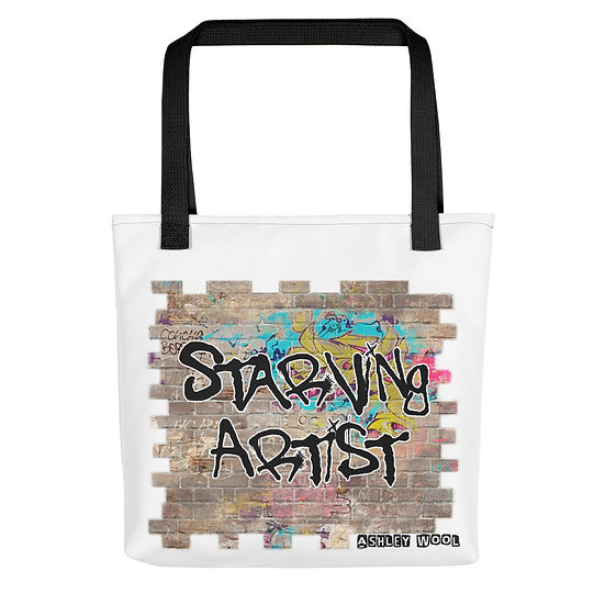 Starving Artist Graffiti Graphic Tote Bag