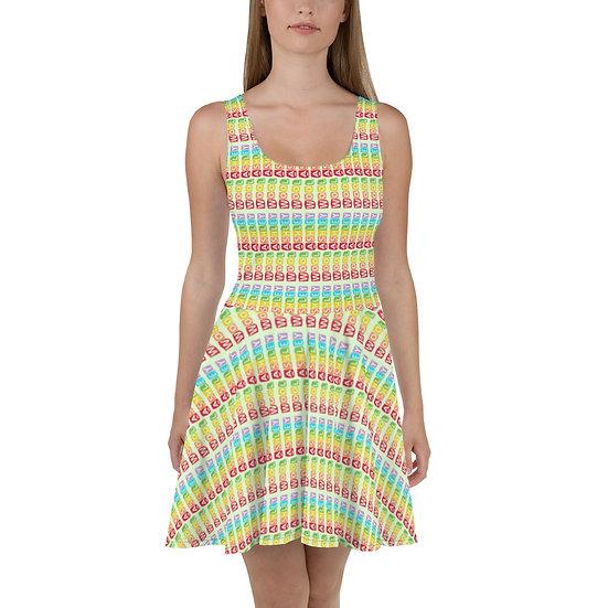 Ashley Wool Rainbow Skater Dress