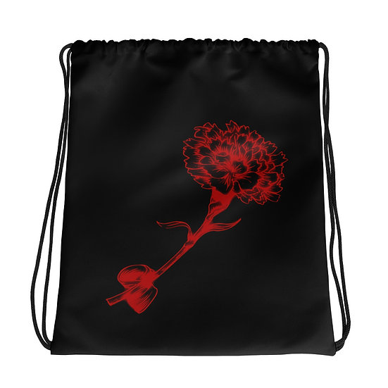 Automatoronic Carnation Drawstring Bag