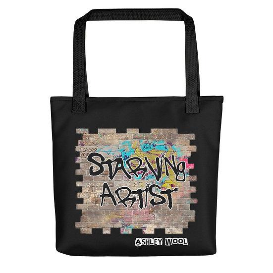 Starving Artist Graffiti Graphic Tote Bag