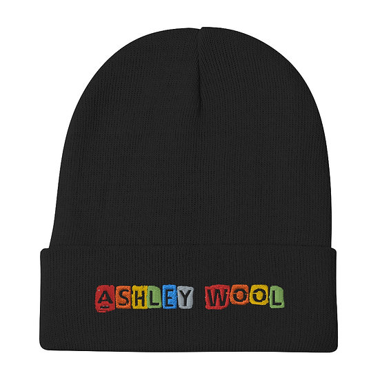 Ashley Wool Rainbow Embroidered Beanie