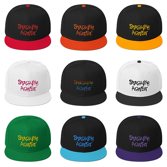 Starving Artist Embroidered Hat - Various Colors
