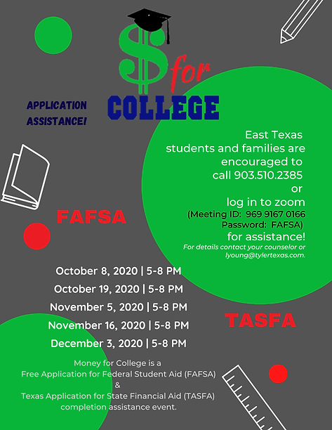 Money for College Flyer Fall 2020 Final.