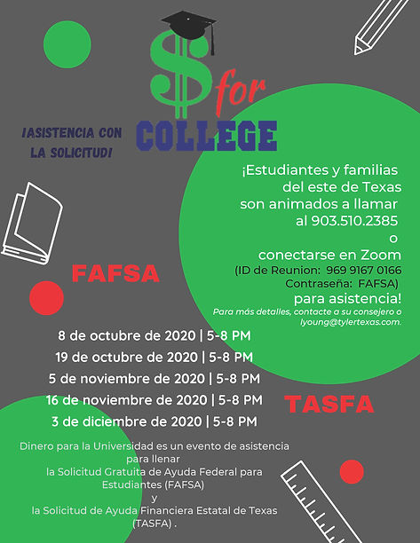 Money for College Flyer Fall 2020 Final
