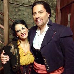 Alice Marini as Mercedes and Raymond Ace
