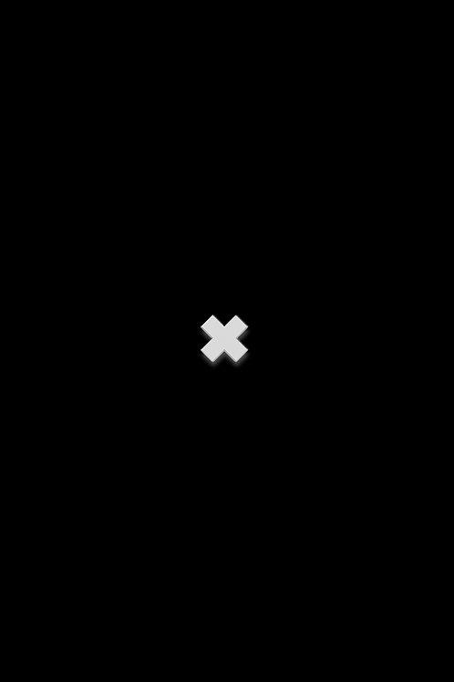 Naušnice křížek bílý