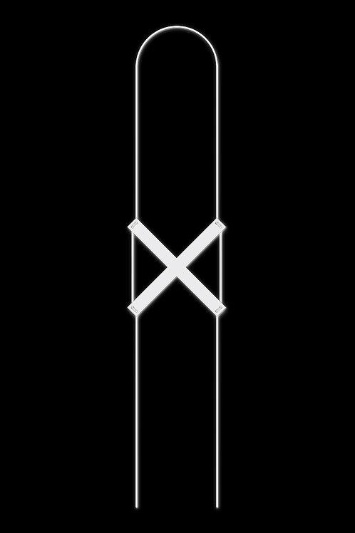 Náhrdelník křížek bílý