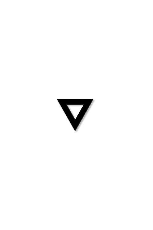 Naušnice trojúhelník obrys