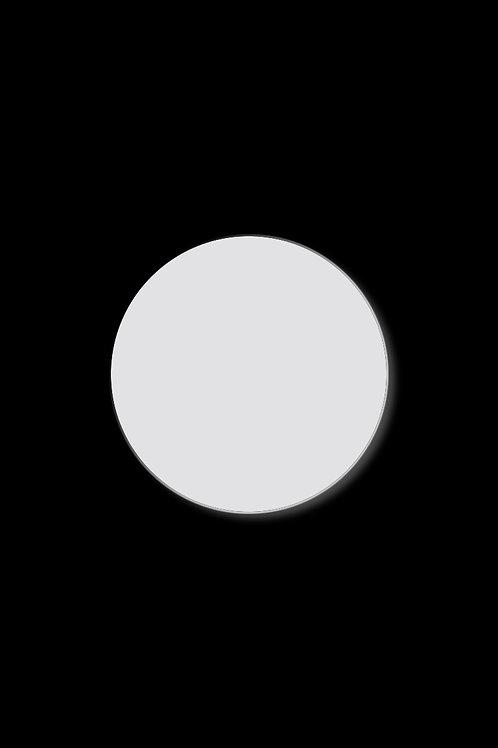 Brož plný kruh bílý
