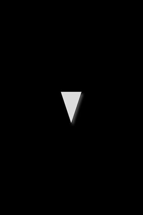Naušnice trojúhelník protáhlý bílý