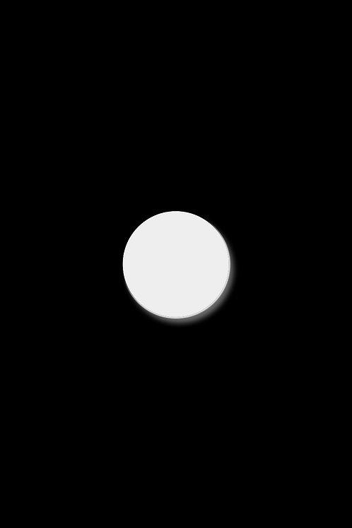 Brož plný kruh malý bílý