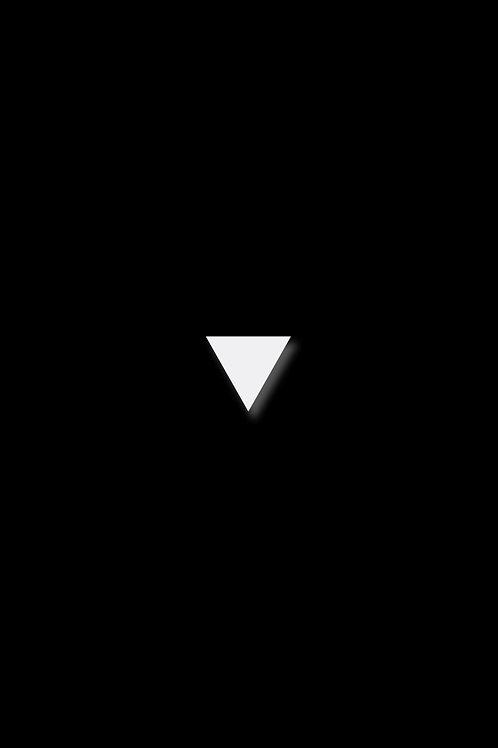 Naušnice trojúhelník bílý
