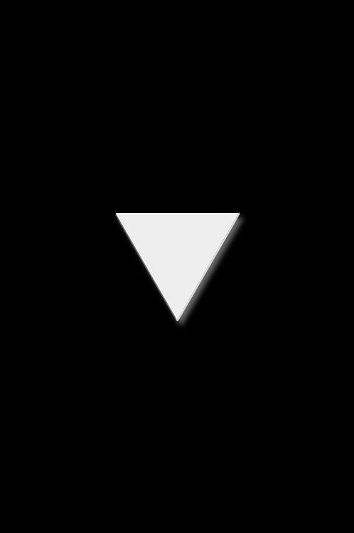 Brož trojúhelník malý bílý