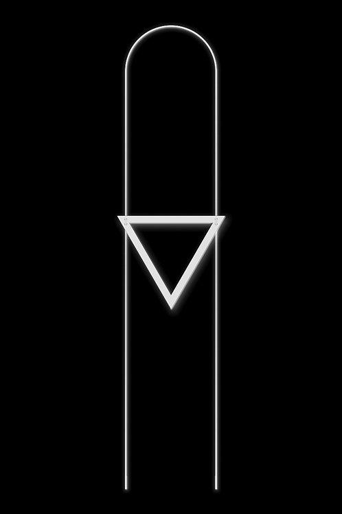 Náhrdelník trojúhelník bílý