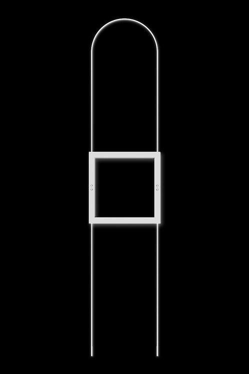 Náhrdelník čtverec bílý
