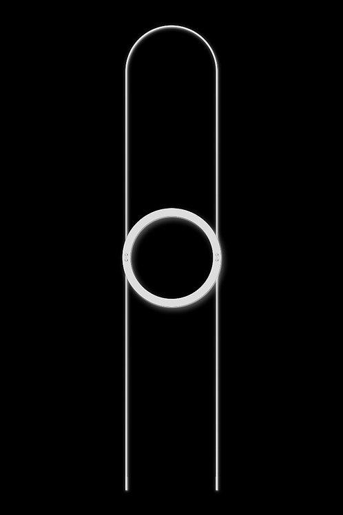 Náhrdelník kruh bílý