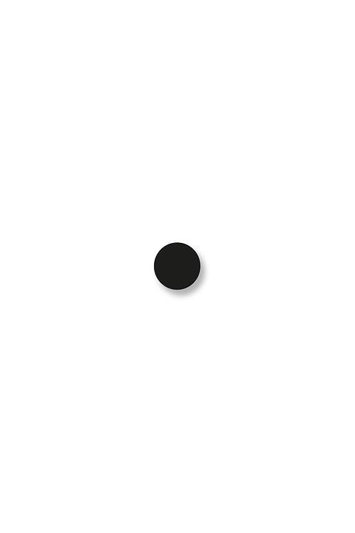 Naušnice kruh malý černý