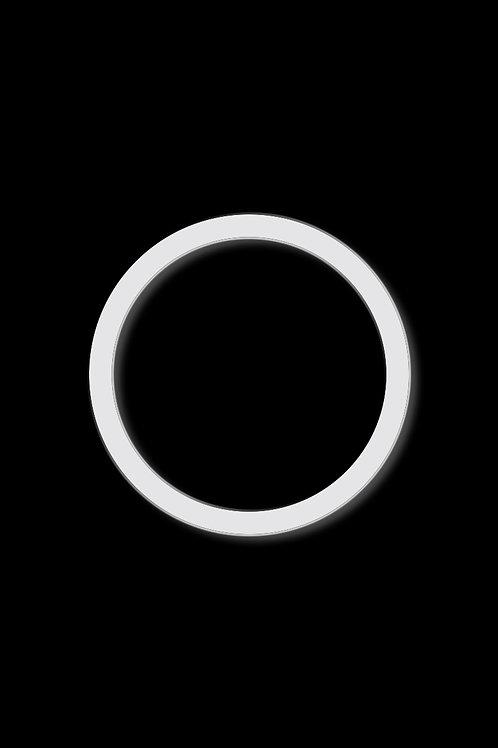 Brož kruh obrys bílý