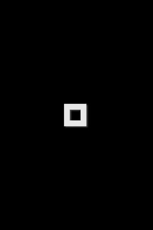 Naušnice čtverec obrys bílý