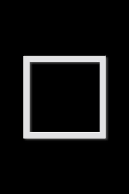 Brož čtverec obrys bílý
