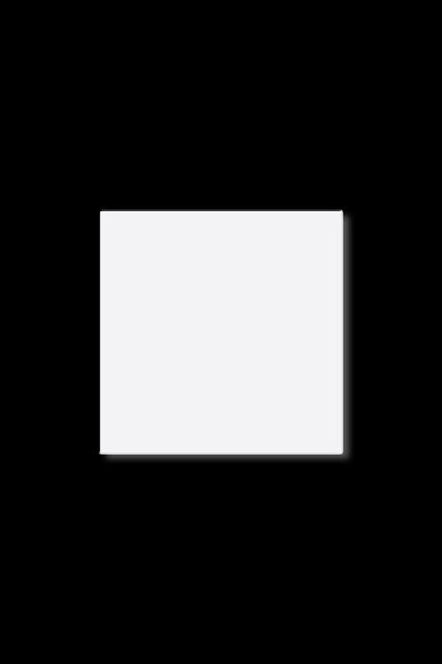 Brož plný čtverec bílý