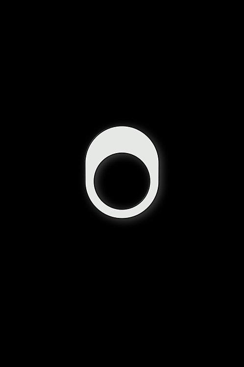 Prsten zaoblený bílý