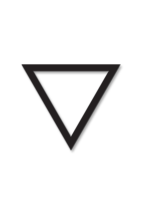 Brož trojúhelník obrys