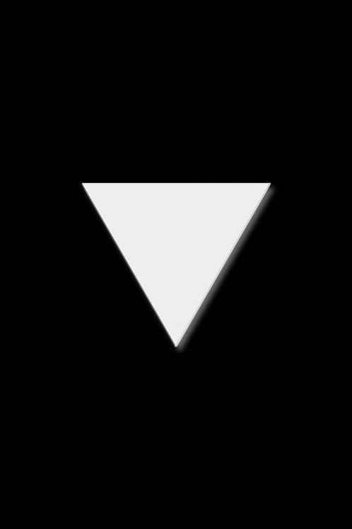 Brož trojúhelník velký bílý