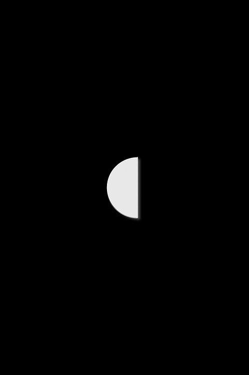 Naušnice polovina bílá