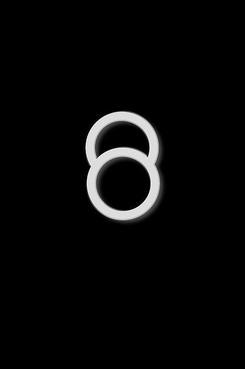 Prsten velký oblouk bílý