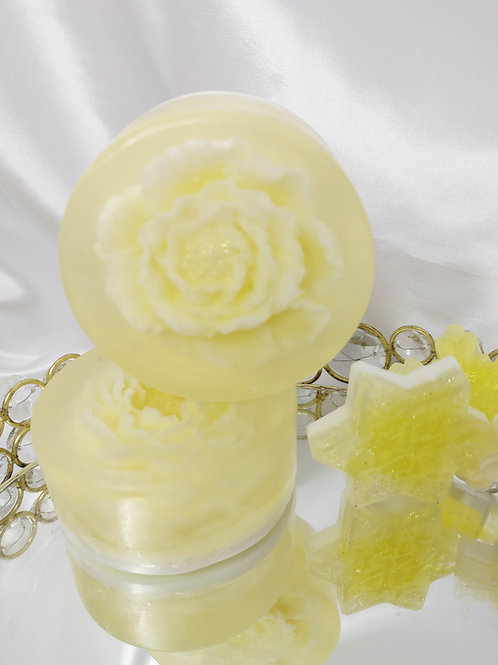 Enchanted Glycerin Flower Soap Cake-Lemon Ice