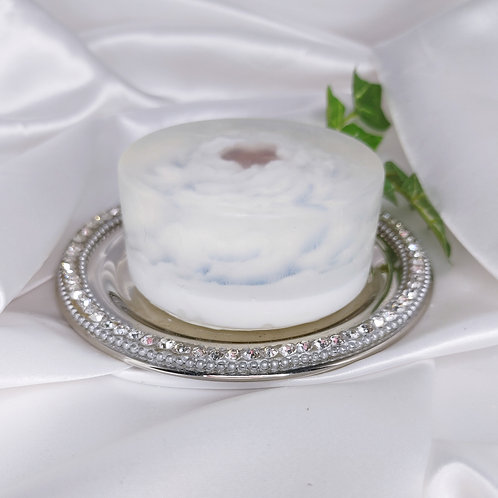 Enchanted Glycerin Flower Soap Cake-Cashmere & Cotton