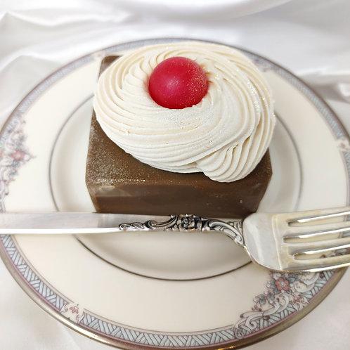 Chocolate Fudge Brownie & Whipped Cream Soap Cake