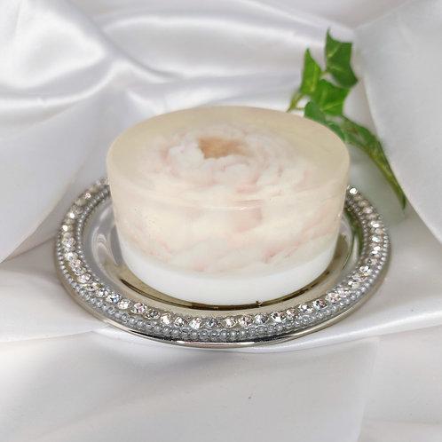 Enchanted Glycerin Flower Soap Cake-Orange Blossom