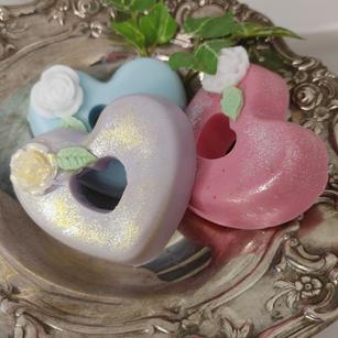 Double Heart Glycerin Soap