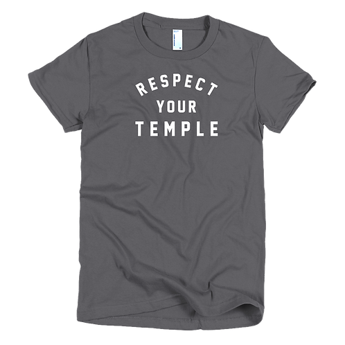 Women's Respect Your Temple Circular Tee