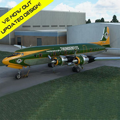 """Thunderfly Livery for Douglas DC-6A/B """"SquirrelForce One"""" & """"SquirrelForce Two"""""""