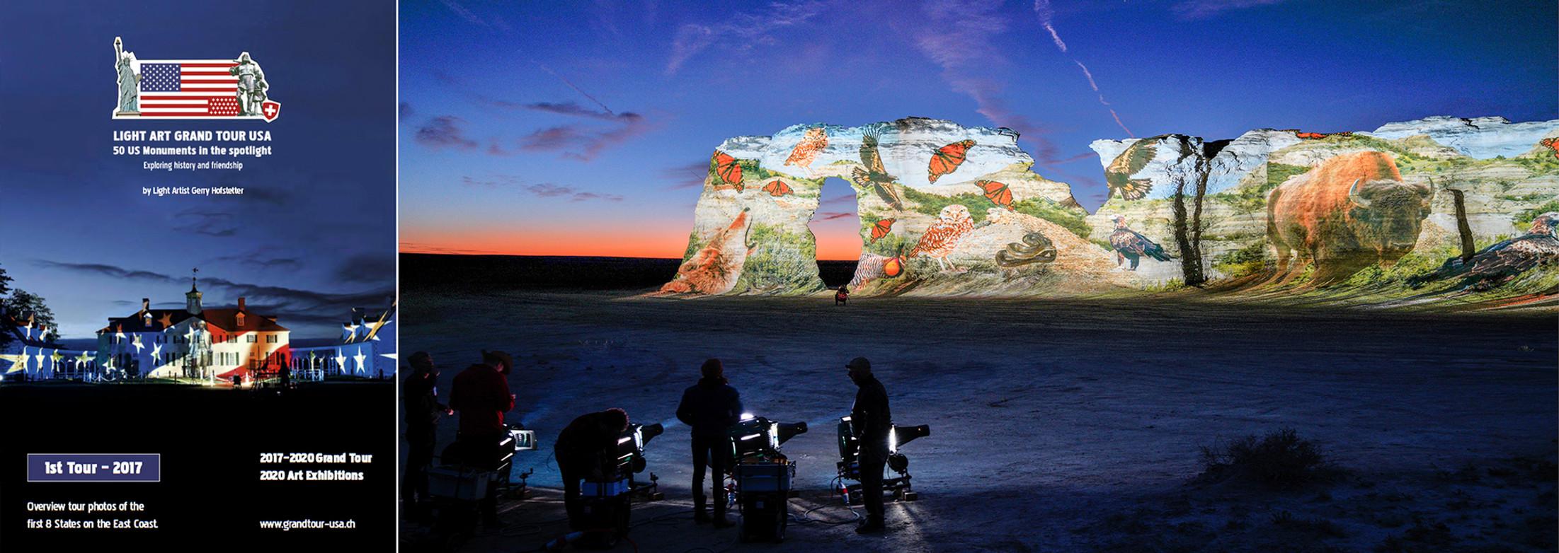 LIGHT ART TOUR USA FOR MOVIE AND ARTBOOKS