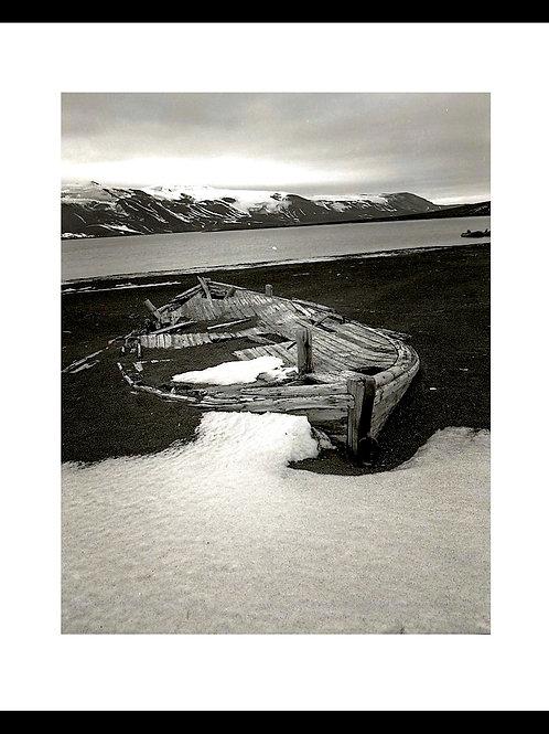 Antarctica ABANDONED BOAT