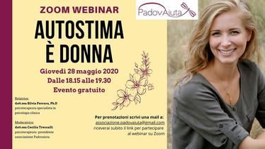 """""""Autostima è donna"""" - zoom webinar 28 maggio 2020"""