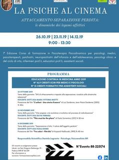 """""""LA PSICHE AL CINEMA"""" - Corso ECM - 1ªEdizione Attaccamento Separazione Perdita: le dinam"""