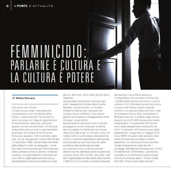 Femminicidio: parlarne è cultura e la cultura è potere