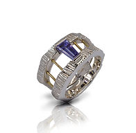 Bague Argnt massif Or 18k Tanzanite