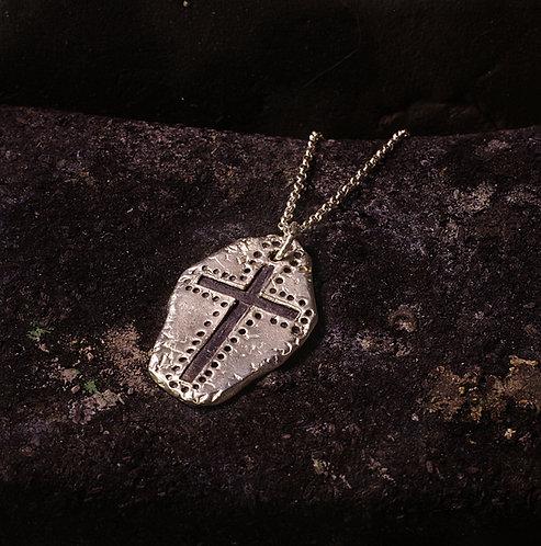 Pendentif créateur croix noire mixte unisexe argent massif 925 Gaston Bijoux