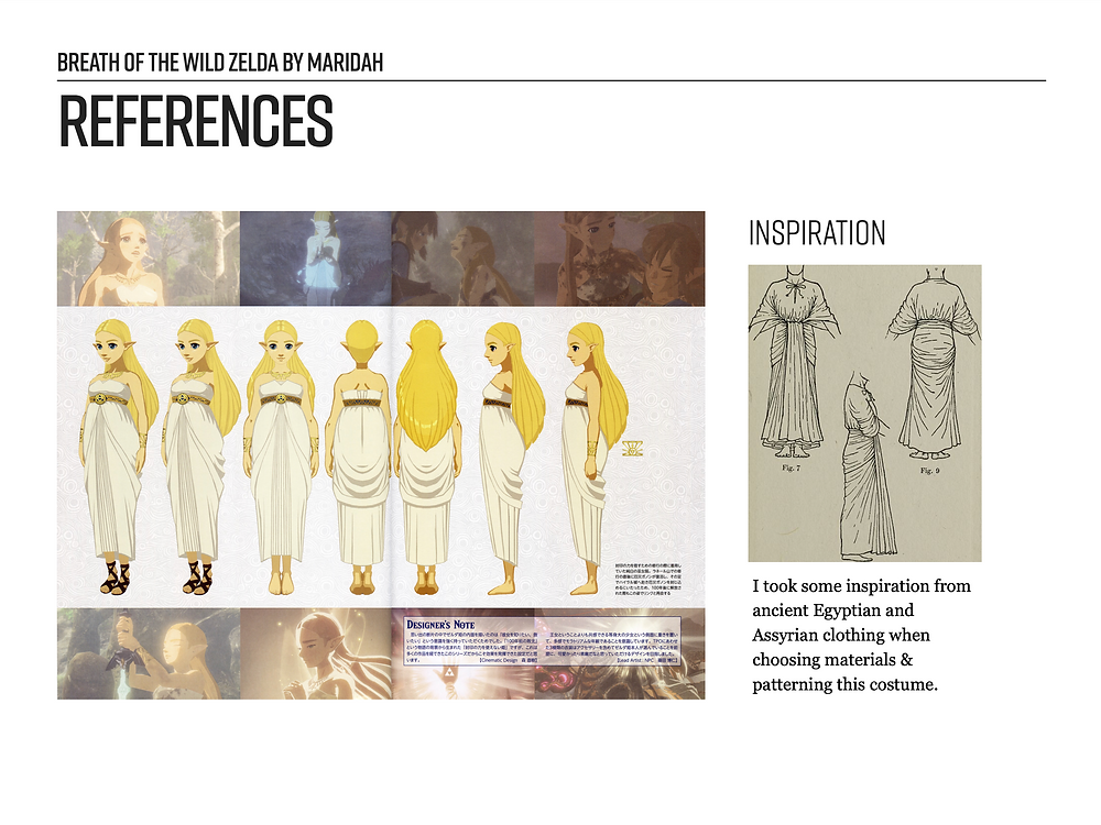 Example of a Cosplay References Page