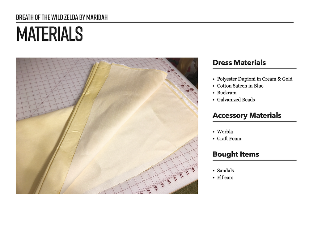 Example of a Cosplay Materials Page