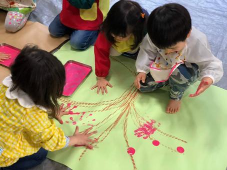 「お花見弁当アート」「桜の木アート」