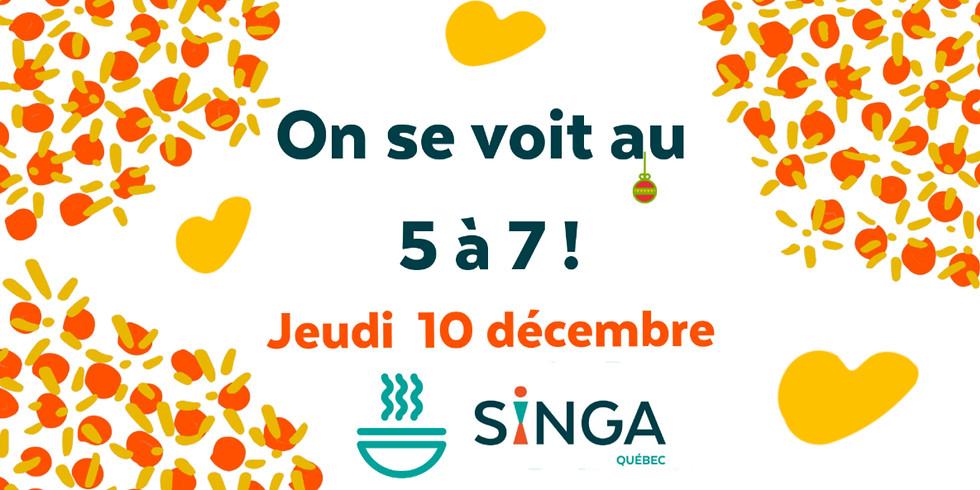 5 à 7 de Singa Québec - Décembre 2020