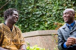 Boucar Diouf avec John Nyembo