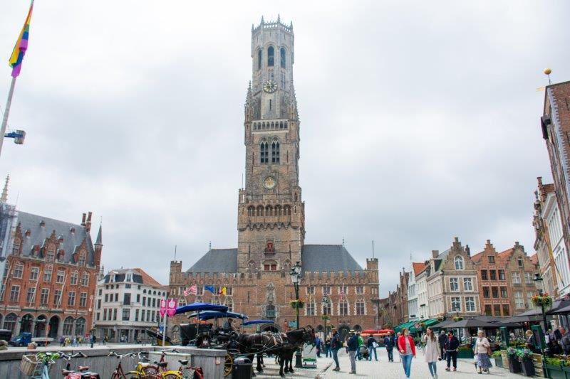 Belfort van Brugge Belgija Potujoči brlog